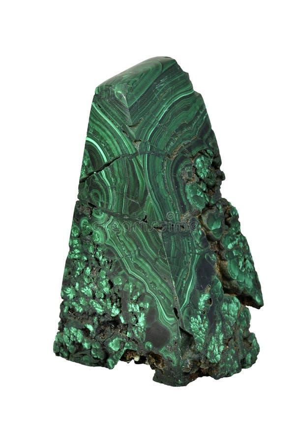 Le spécimen de malachite est une pierre minérale verte pour font chanceux et charmant dans la vie photographie stock