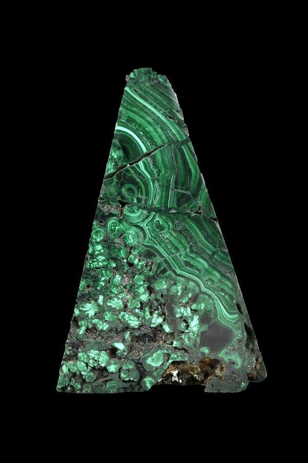 Le spécimen de malachite est une pierre minérale verte pour font chanceux et charmant dans la vie image stock