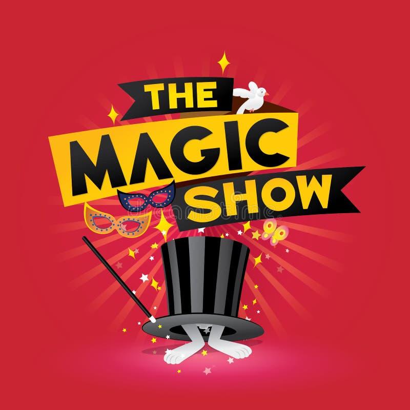 Le spectacle de magie illustration libre de droits