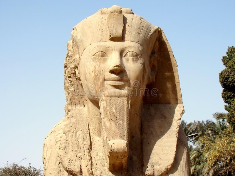 Le sphinx d'albâtre, Memphis, Egypte image stock