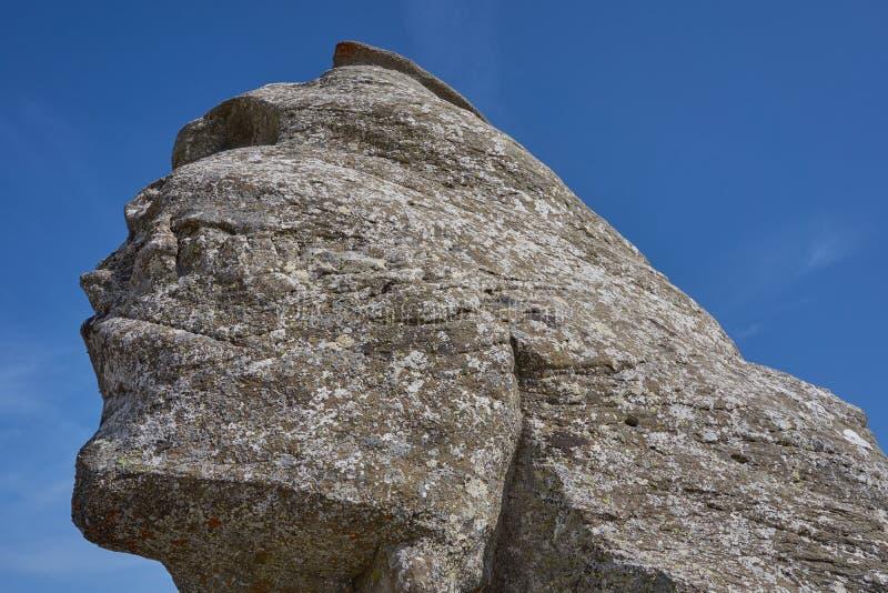 Le sphinx de Babele en montagnes Roumanie de Bucegi photo libre de droits