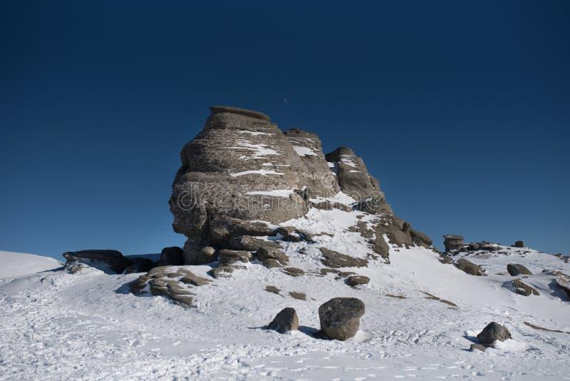 Le sphinx de Bucegi Roumanie photographie stock