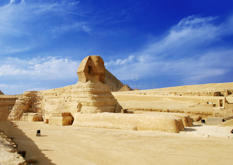 Le sphinx - Giza, Egypte image stock