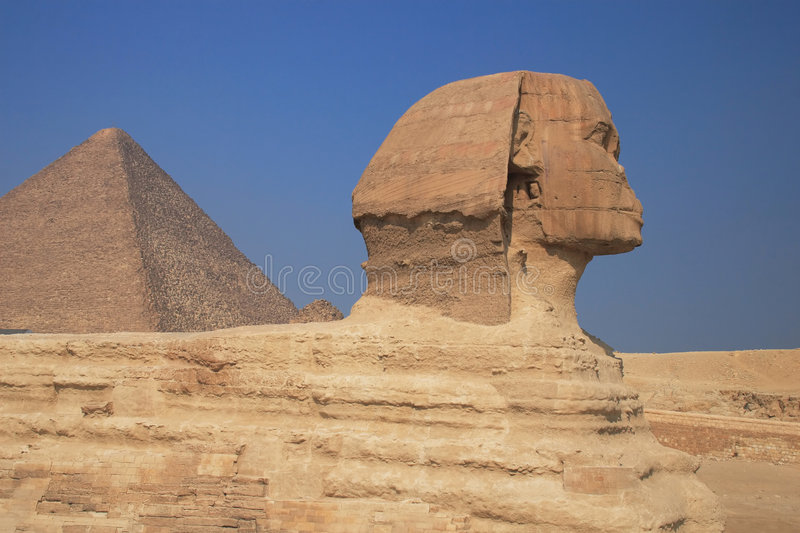 Le sphinx grand images stock