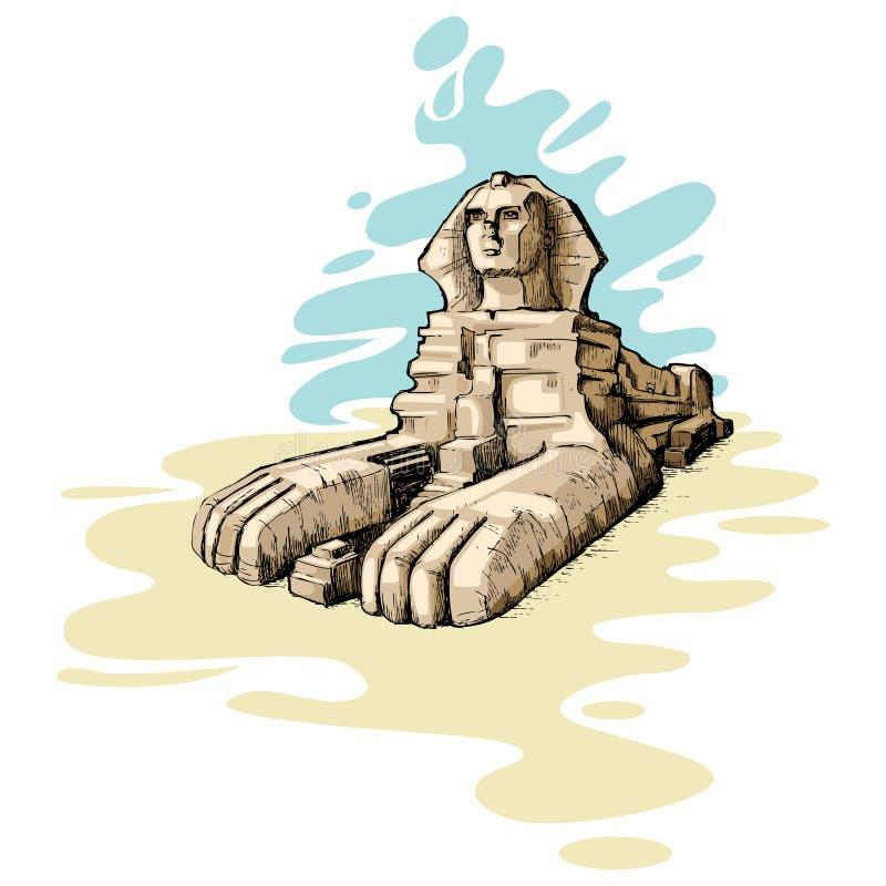 Le sphinx grand illustration stock