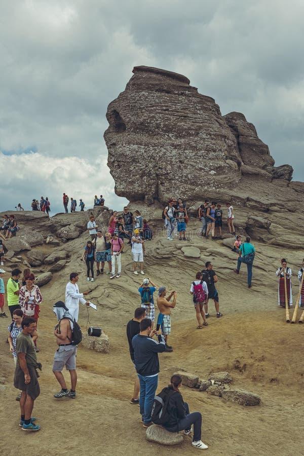 Le sphinx, montagnes de Bucegi, Roumanie photographie stock