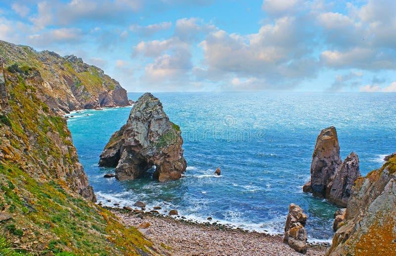 Le spiagge su capo Roca fotografia stock