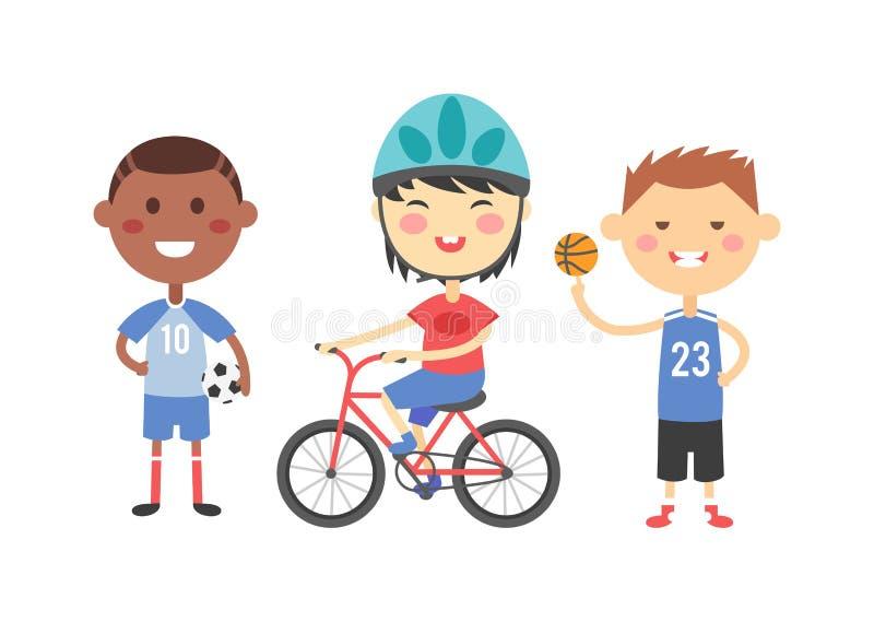 Le sport badine l'illustration de vecteur illustration libre de droits