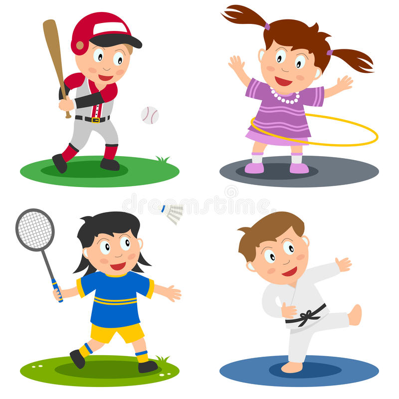 Le sport badine le ramassage [2] illustration de vecteur