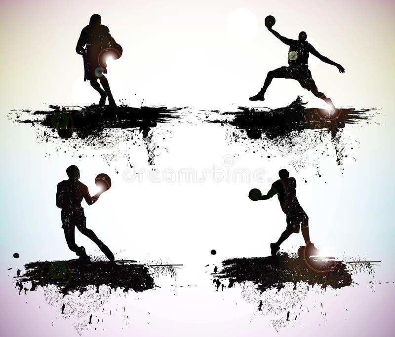 Silhouettes de sport illustration de vecteur