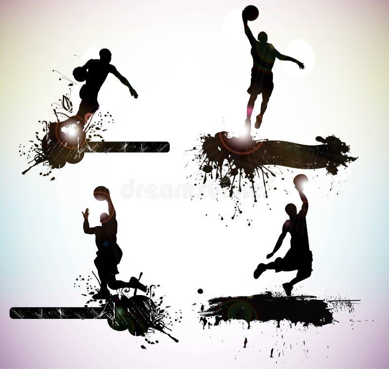 Silhouettes de sport illustration libre de droits