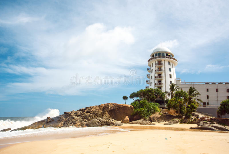 Le Sri Lanka Ambalangoda 3 juin 2016 vue au phare photo stock