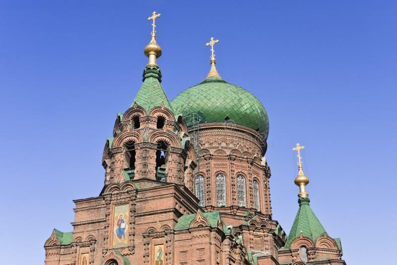Le St antique Sophia Church à Harbin, la plus grande église orthodoxe orientale en Extrême Orient images stock