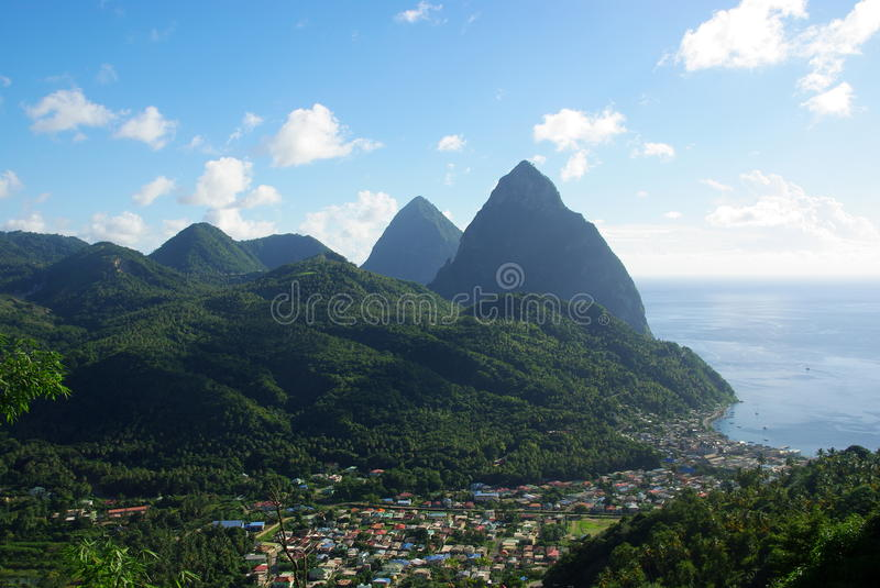 Le St Lucia images stock