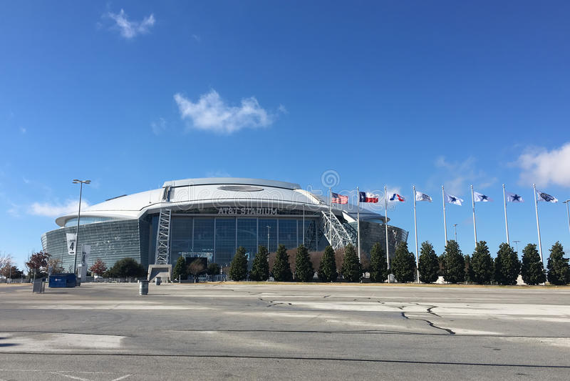 Le stade d'AT&T, maison à Dallas Cowboys du NFL image stock