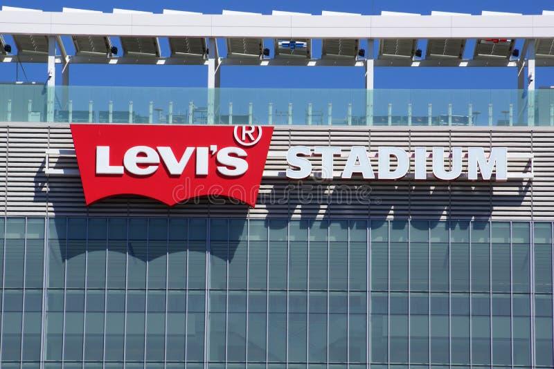 Le stade de Levi's se connectent le côté du bâtiment photographie stock