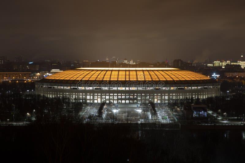 Le stade de Luzhniki après reconstruction photographie stock libre de droits