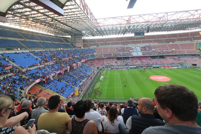 Le stade de Stadio Giuseppe Meazza à Milan, Italie image libre de droits