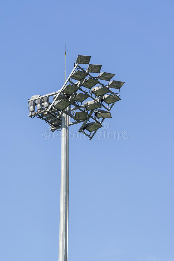 Le stade folâtre l'éclairage image libre de droits