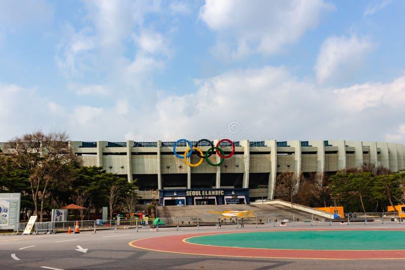 Le Stade Olympique dans le complexe de sports de Séoul, Séoul photo libre de droits