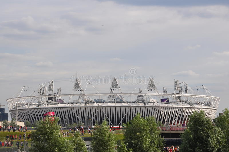 Le stade olympique, stationnement olympique, Londres