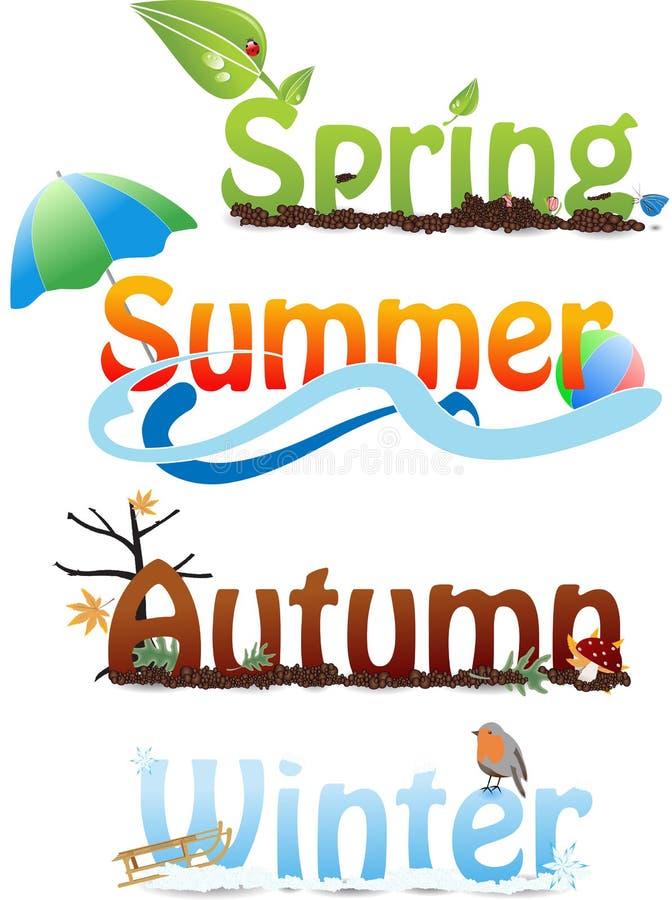 Le stagioni royalty illustrazione gratis