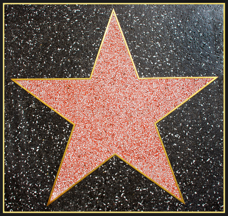 Le star de Hollywood a encadré photographie stock