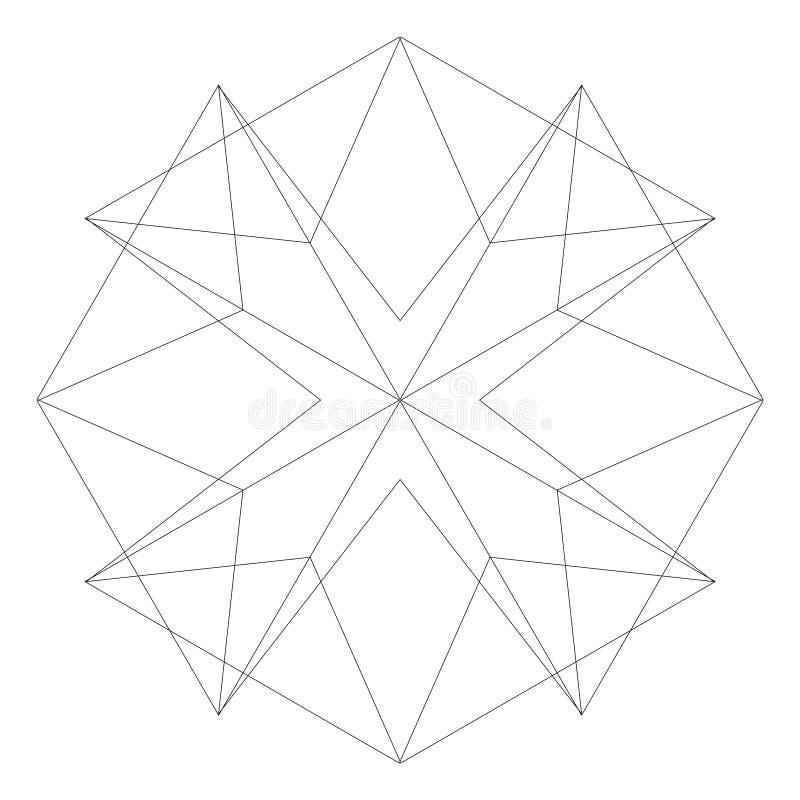Le stelle ed i fiori geometrici dell'insieme per i regali e le feste modellano il vettore EPS10 immagini stock libere da diritti