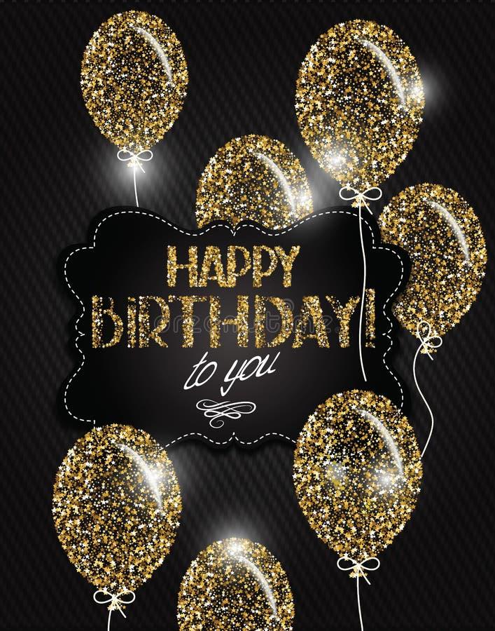 le stelle ed il buon compleanno desidera sui precedenti del tessuto royalty illustrazione gratis