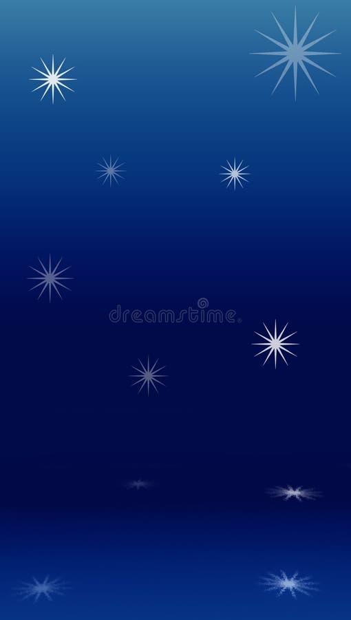 Le stelle hanno riflesso nell'acqua illustrazione vettoriale