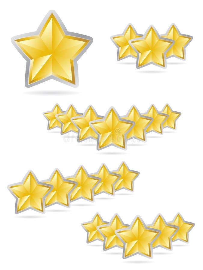 Le stelle ricompensano l'insieme illustrazione vettoriale