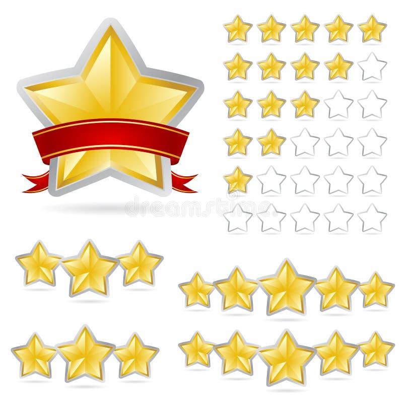 Le stelle ricompensano l'insieme illustrazione di stock