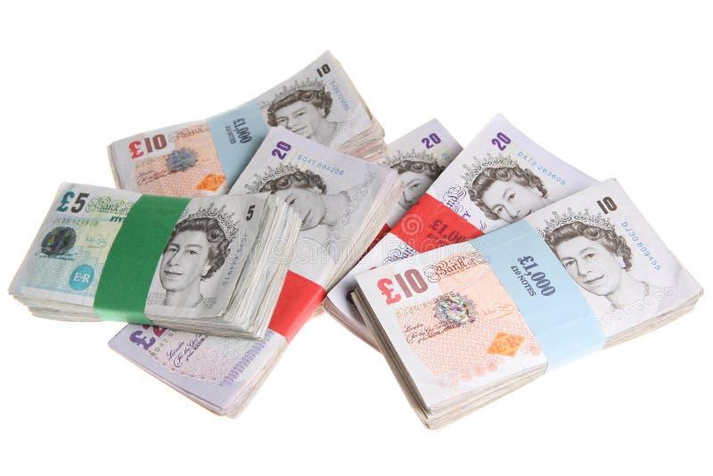 Le Sterling note la devise d'argent photo stock