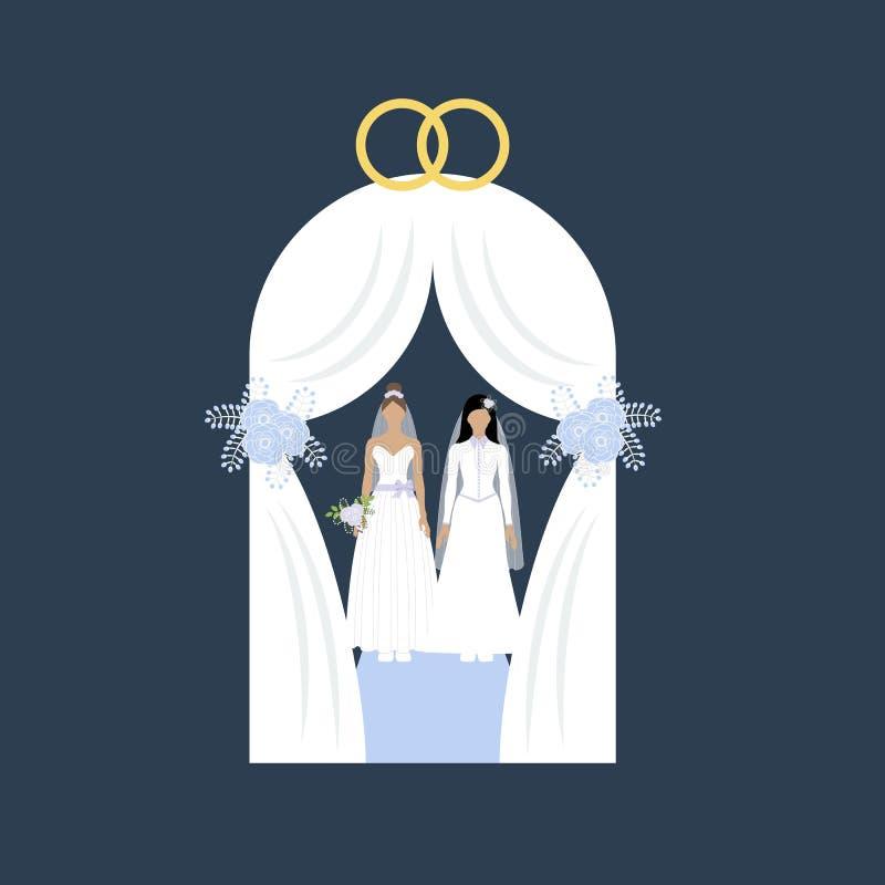 Le stesse nozze del sesso royalty illustrazione gratis