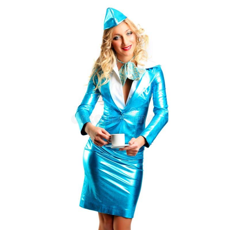 le stewardess arkivbild