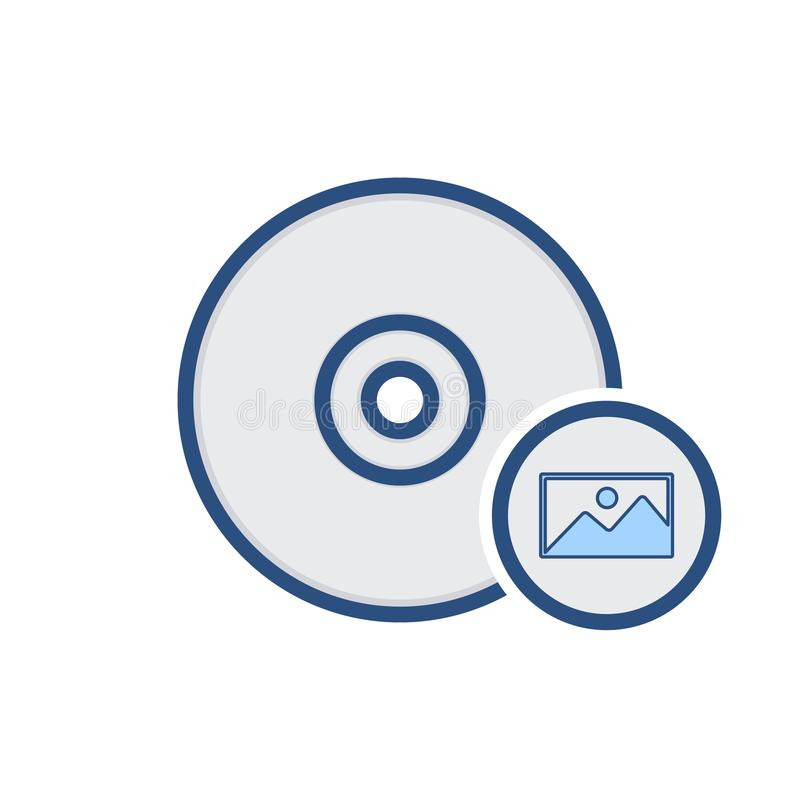 Le stockage d'OIN d'image d'unité de disques de brûlure écrivent l'icône illustration de vecteur