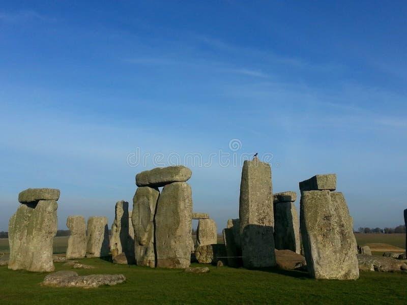 Le Stonehenge célèbre et mystérieux en Angleterre. images libres de droits