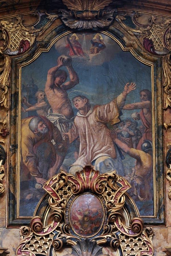 Le stoning de St Stephen photo libre de droits