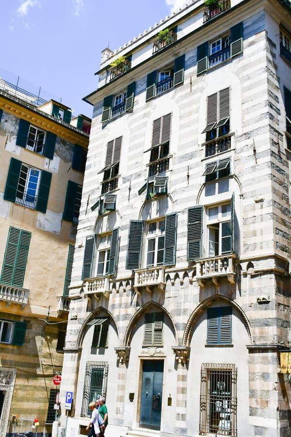 LE Strade Nuove Γένοβα, Ιταλία στοκ φωτογραφία με δικαίωμα ελεύθερης χρήσης