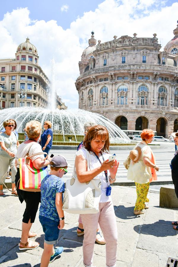 Le Strade Nuove Genova, Italia fotografie stock libere da diritti