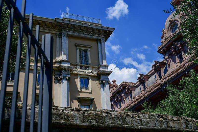 Le Strade Nuove genua, Włochy obraz royalty free