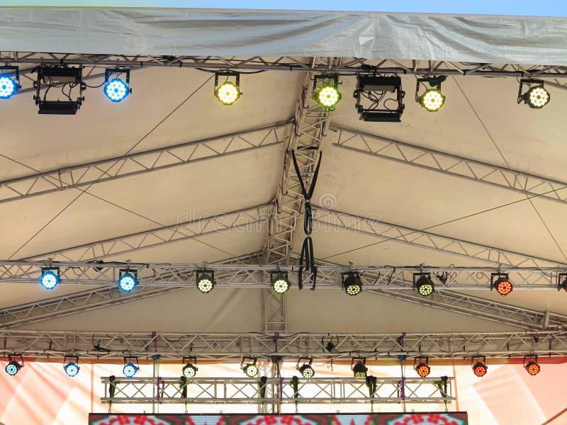 Le strutture dell'illuminazione di fase illumina la strumentazione immagine stock