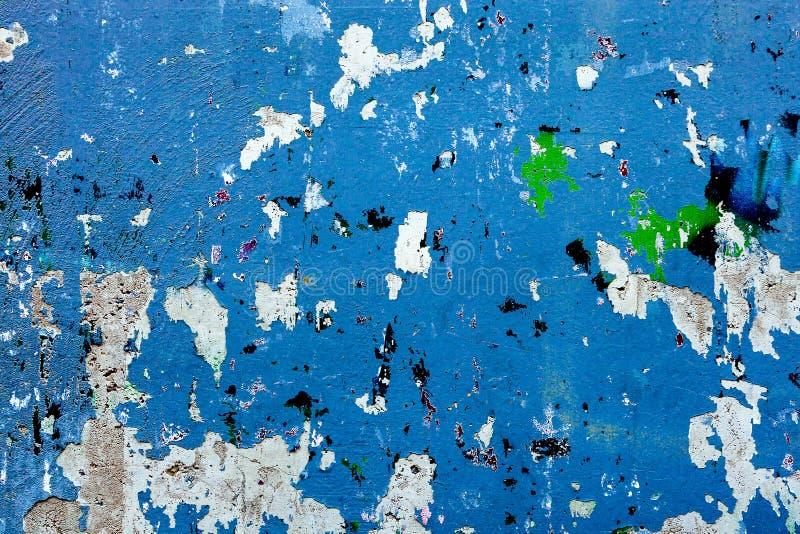 Le stuc grunge rouge de plâtre de Wall Street de vieux de peinture de fond vert bleu multicolore de modèle corrompu a souillé des photo stock