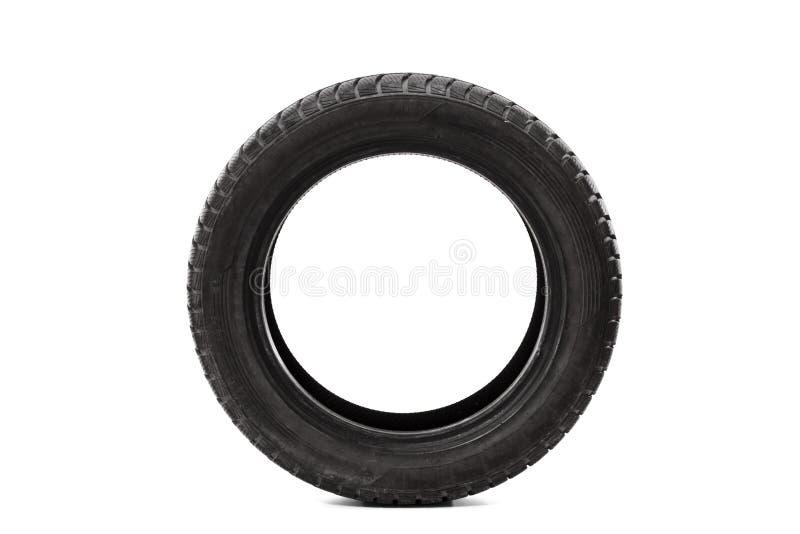 Le studio de vue de face a tiré d'un pneu de voiture simple photographie stock libre de droits