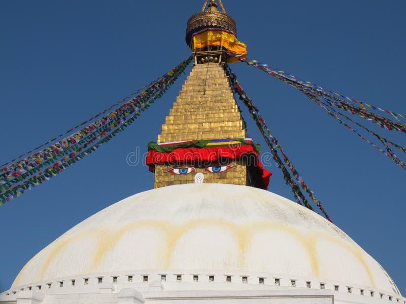 Le Stupa de Bodnath, Népal image libre de droits