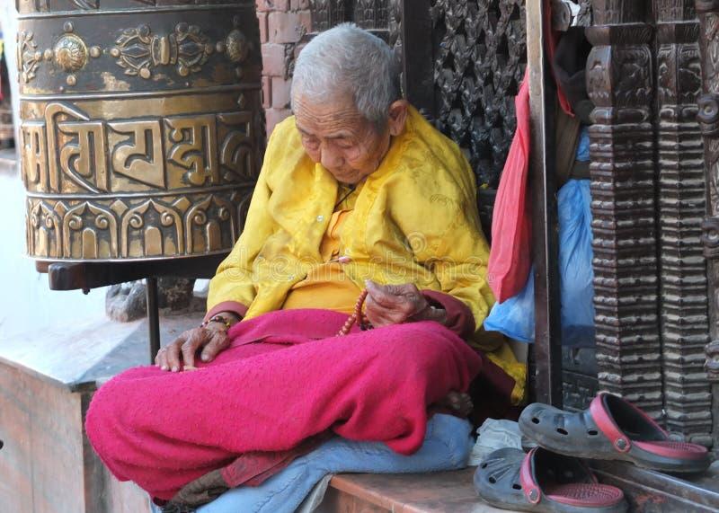 Le Stupa de Bodnath, Népal photographie stock libre de droits