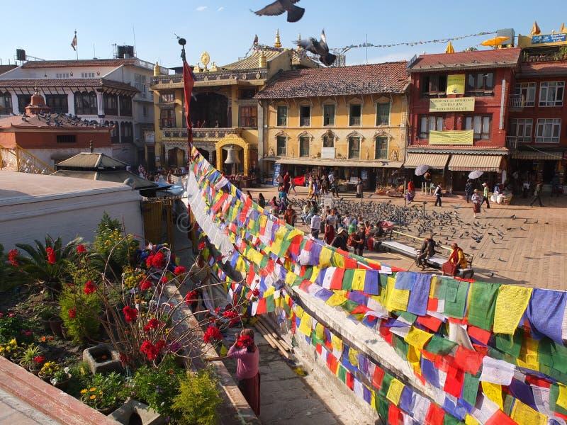 Le Stupa de Bodnath, Népal images libres de droits