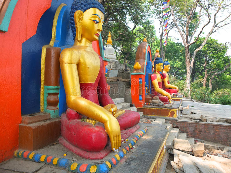 Le Stupa de Swayambunath, Népal photographie stock
