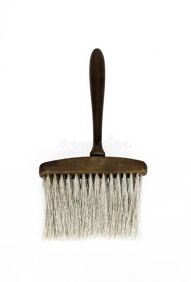 Vieille brosse pour le coiffeur photographie stock libre de droits