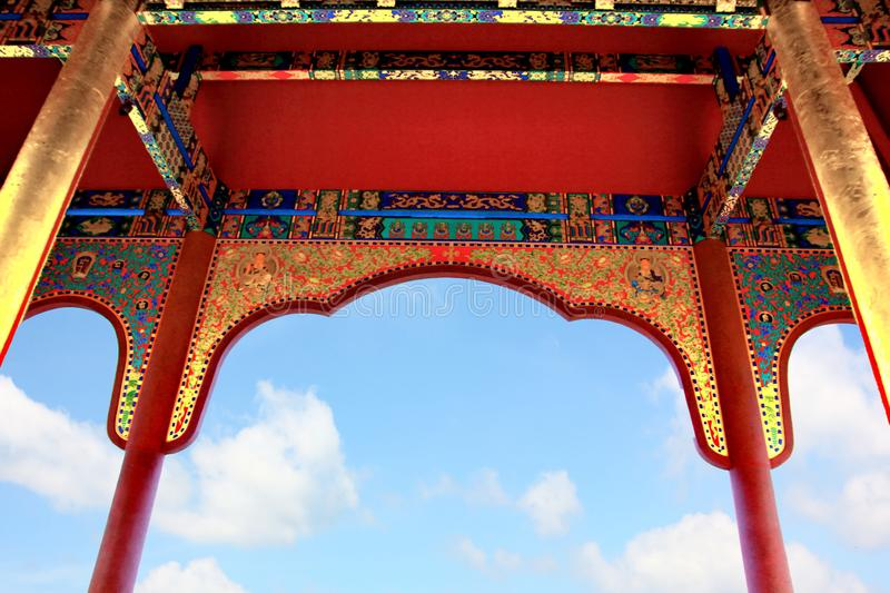 le style chinois dans le temple chinois image stock